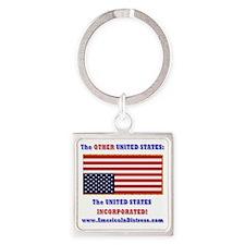 AMERICA IN DISTRESS Square Keychain