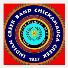 """2-chickamagua3 Square Car Magnet 3"""" x 3"""""""
