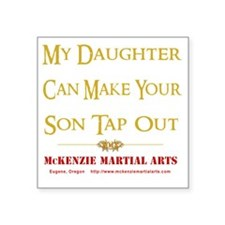 """m_cmystoMMAb_daughter Square Sticker 3"""" x 3"""""""