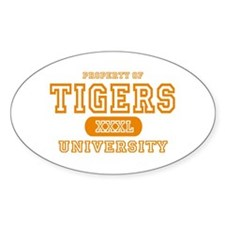 Tigers University Oval Decal