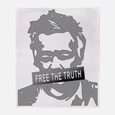 free julian assange Throw Blanket