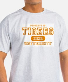 Tigers University Ash Grey T-Shirt