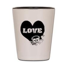 love_skull_panties Shot Glass