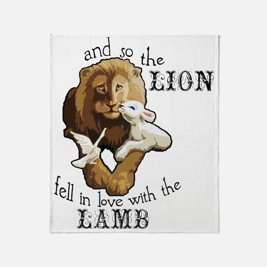 LionLamb Throw Blanket