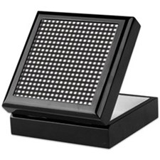 Black Gingham Pattern Keepsake Box