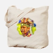 Serious Young Warrior Tote Bag