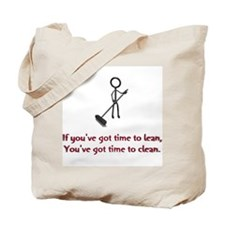 Time to Lean Tote Bag