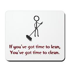 Time to Lean Mousepad