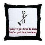 Time to Lean Throw Pillow