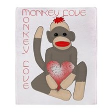 monkey love Throw Blanket