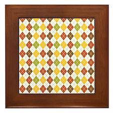 Fall Argyle Framed Tile