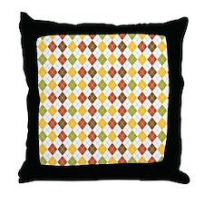 Fall Argyle Throw Pillow