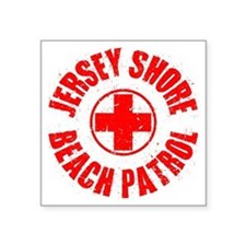 "Jersey Shore_p01 Square Sticker 3"" x 3"""