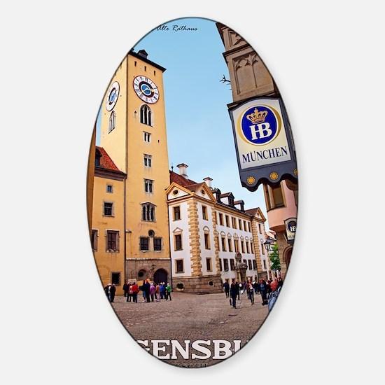 Regensburg - Altes Rathaus Sticker (Oval)