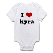 I Love kyra Infant Bodysuit