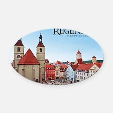Regensburg - Neupfarrkirche Oval Car Magnet