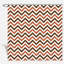 Fall Chevron Shower Curtain