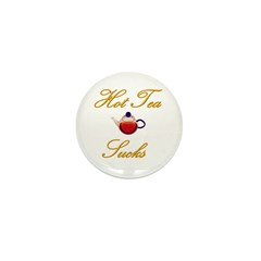 Hot Tea Sucks Mini Button (10 pack)
