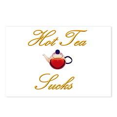Hot Tea Sucks Postcards (Package of 8)