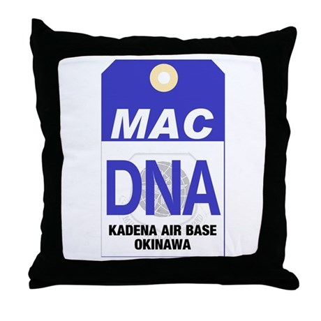 Kadena MAC Tag Throw Pillow