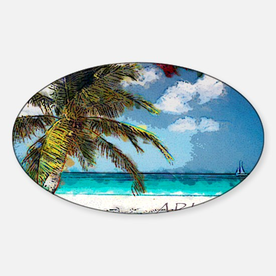 Aruba6 Sticker (Oval)