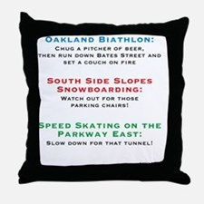yinzerlympics_back_beer Throw Pillow