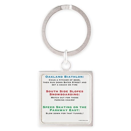 yinzerlympics_back_beer Square Keychain