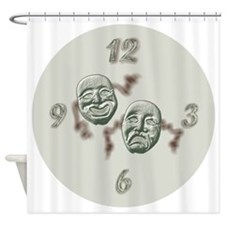 Comedy And Tragedy Shower Curtain