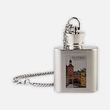 Regensburg Steinerne Brucke Flask Necklace