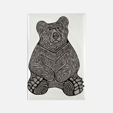Bear and the Missing Bees-3 Rectangle Magnet