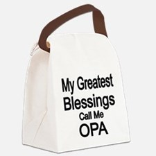 My Greatest Blessings call me OPA Canvas Lunch Bag