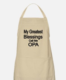 My Greatest Blessings Call Me OPA Apron