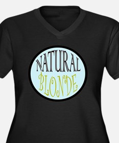 natBLONDE Women's Plus Size Dark V-Neck T-Shirt