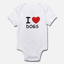 I love dogs Infant Bodysuit