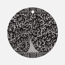 Sleeping Tree-2 Round Ornament
