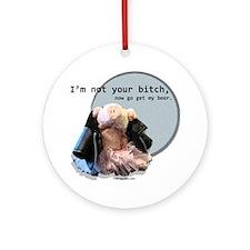 021210 Beer Bitch Round Ornament