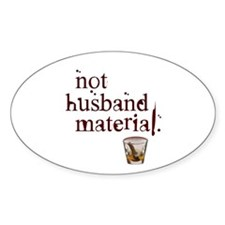 Not husband... Oval Decal