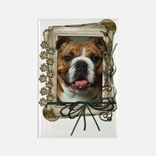 Stone_Paws_Bulldog_Dk Rectangle Magnet