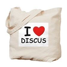 I love discus Tote Bag