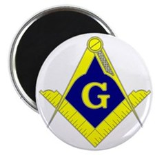 Square  Compass - Gold  Blue - with G Magnet
