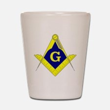 Square  Compass - Gold  Blue - with G Shot Glass