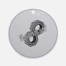 MyNuts2.25ButtonMagnet Round Ornament