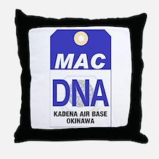 Kadena MAC Tag Throw Pillow