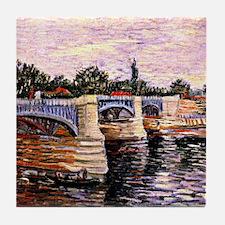 Van Gogh - The Seine with the Pont de Tile Coaster