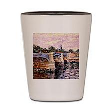 Van Gogh - The Seine with the Pont de l Shot Glass