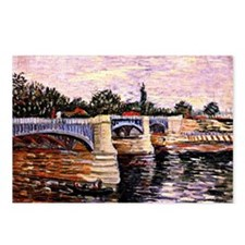 Van Gogh - The Seine with Postcards (Package of 8)