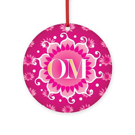 Lotus OM Pink - Ornament (Round)