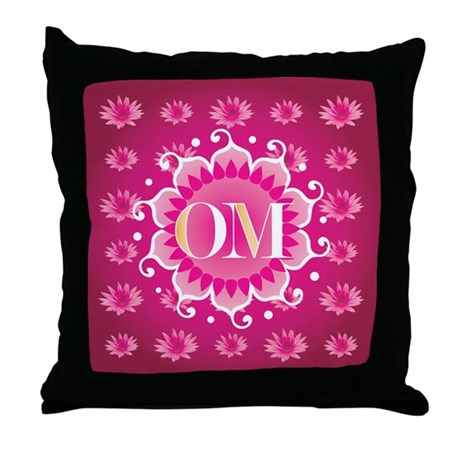 Lotus OM Pink - Throw Pillow
