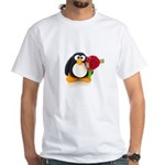 Clay Penguin with Rose White T-Shirt