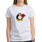 Clay Penguin with Rose Women's T-Shirt
